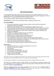 Job AnnouncementTPO_LC-Social Worker