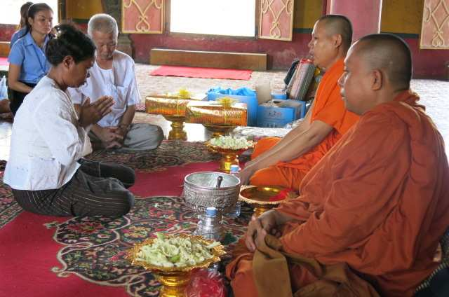 6. Client is chanted by the monks