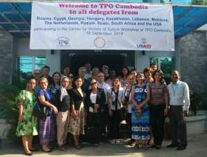 Partners in Trauma Healing from around the world at the TPO office during a capacity building workshop organized by CVT.