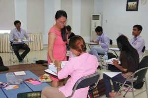 TPO Trainer Ms Phaneth during our course in Cognitive Behavioral Therapy at the TPO Training Center in Phnom Penh.