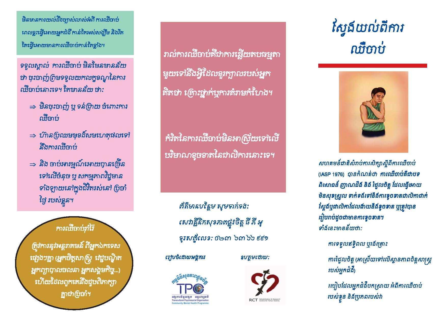 Leaflet-Understanding Chronic Pain-Khmer