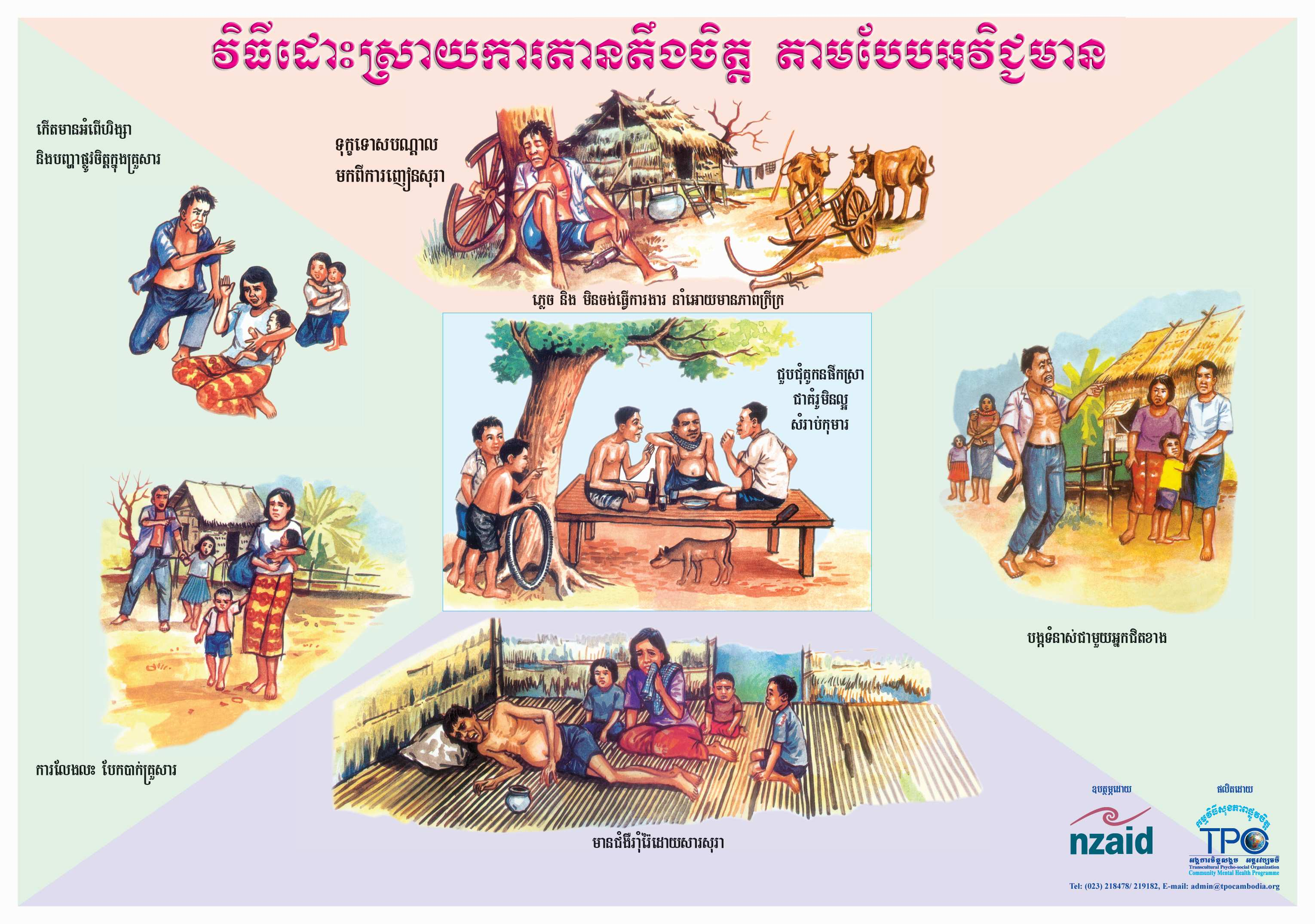 Poster-Negative way in dealing with stress-Khmer