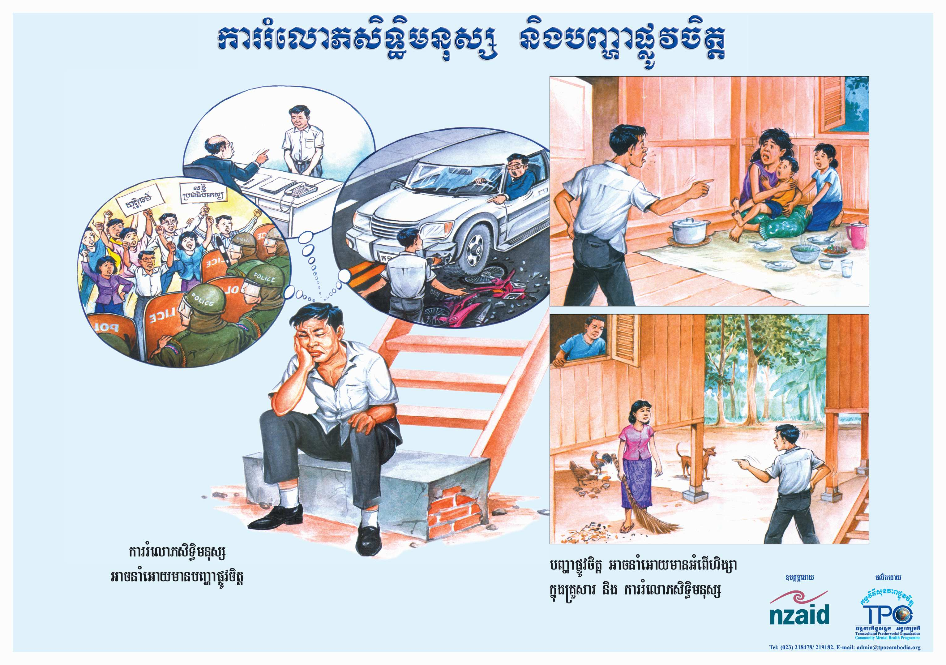 Poster-Human Right Abuse & Mental Health problem-Khmer