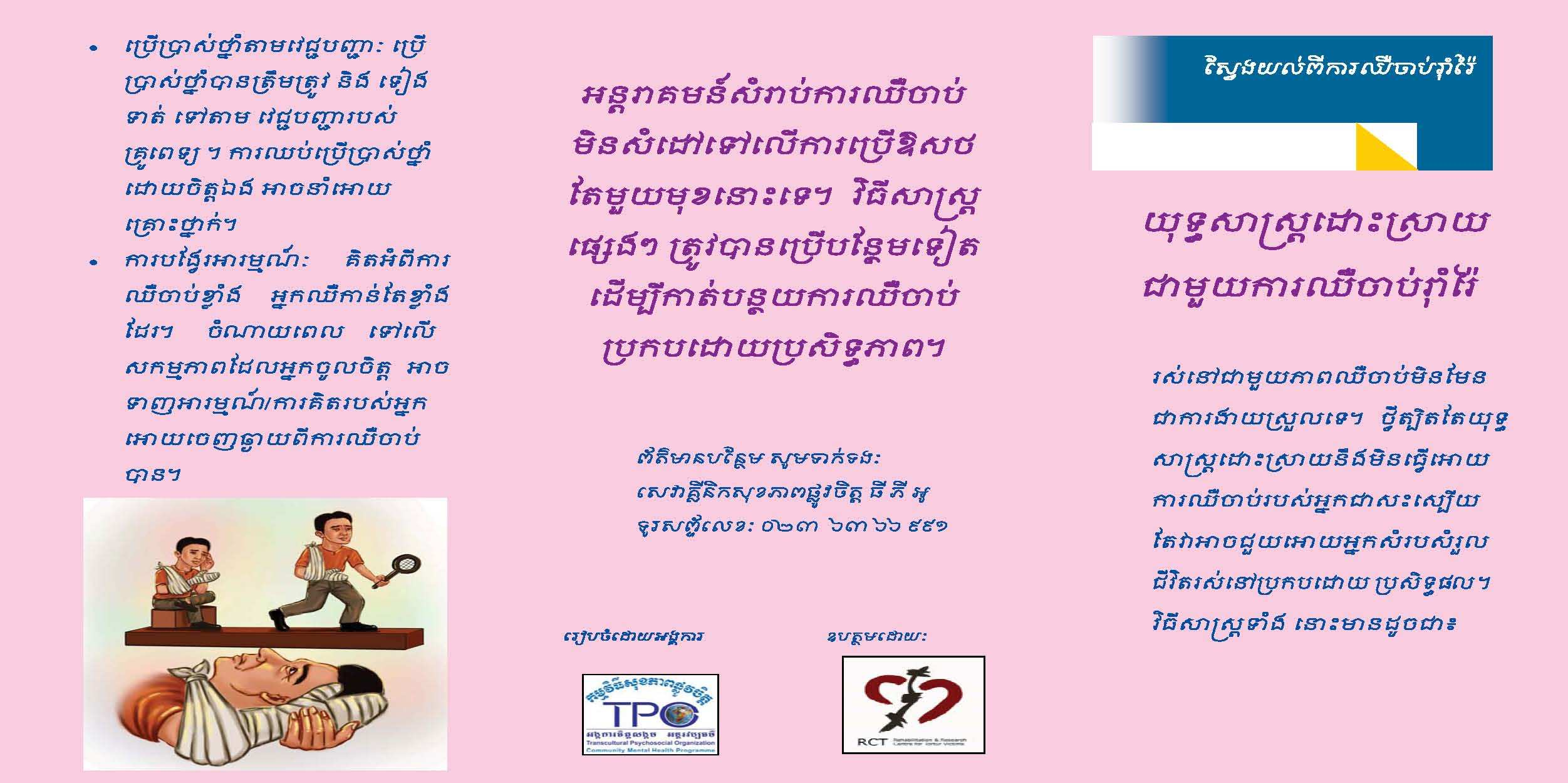 Leaflet-Stratergic to deal with chronic pain-khmer