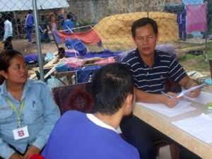 A TPO psychiatrist during a consultation with an inmate.