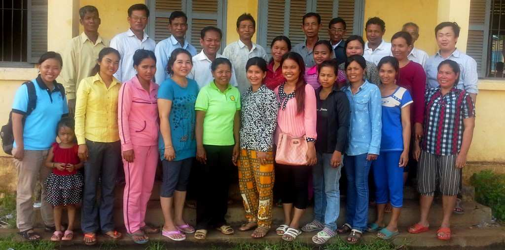 A Village Health Support Group after mental health training by TPO Cambodia - our trainers are to the left and the right.