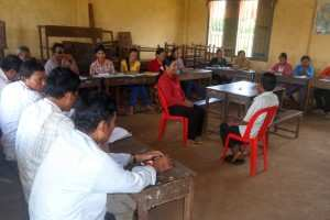 Practising counseling skills makes part of TPO's Mental Health training for Village Support Groups.