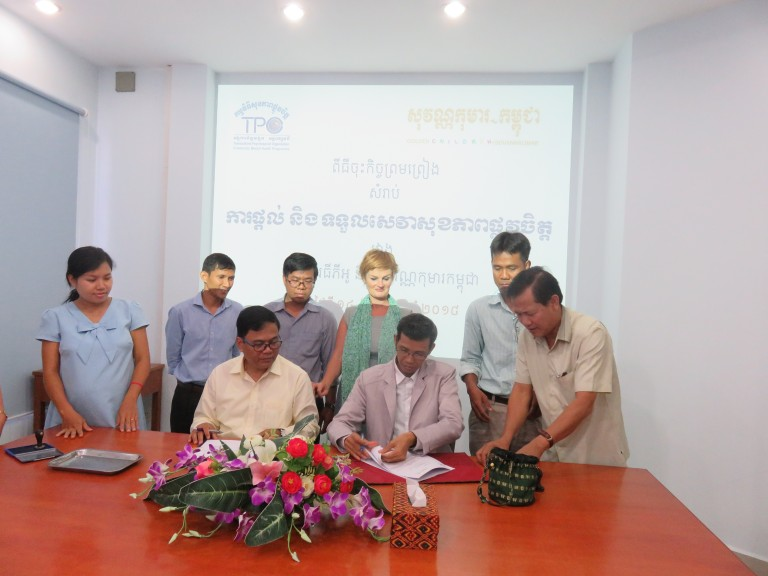 "TPO Signed agreement with Sovann Komar/Golden Children on ""Mental Health Service"""